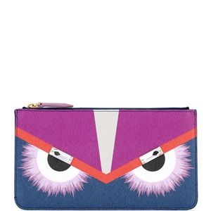 ✔️💯% Authentic Fendi Roma Monster Pouch/wallet